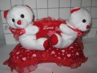 #6518  Soft Toy 15cm 2pc �I Love You� Bear