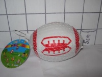 White & Red soft Rugby 4 inch