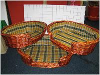 Pet Bed/ Basket 3pcs Set (L)