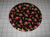 Plastic Flat Plate/Tray with Pattern 37cm #JCA38