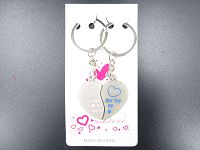 Metal Key Ring- Heart#B (3.5cm)