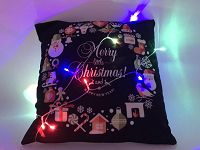 X'mas Pillow With Led Line