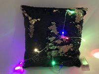 Glitter Cushion With LED Line