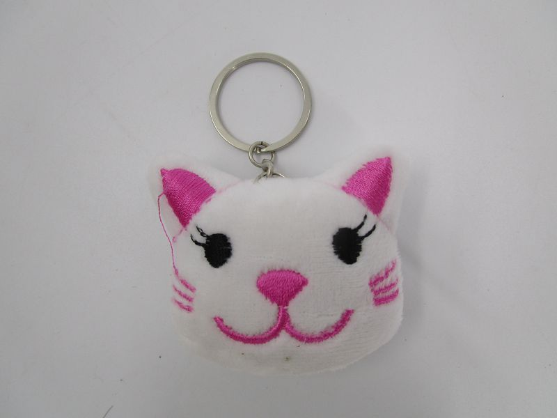 6cm White Tiger Key Ring