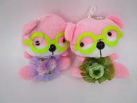 10cm Bear Flower B Key Ring