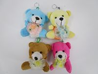 10cm Bear Flower C Key Ring