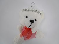 10cm Bear Diamond Key Ring