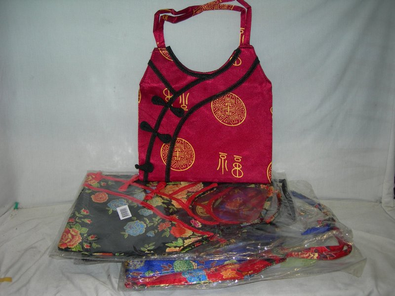 Lady Hand Bag Chinese Mix Colour 25x 36cm