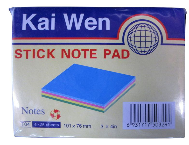 Stick Note 101 x 76 mm Mix Color #T04